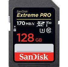 Carte mémoire SDXC SanDisk Extreme 128Go