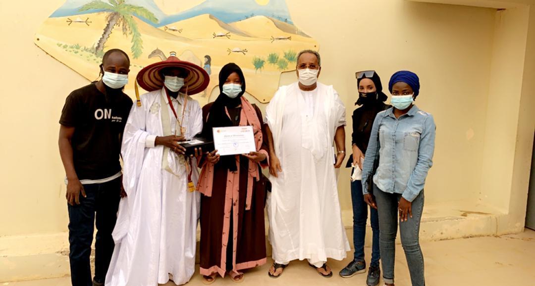 remise des trophées semaine de la langue française en Mauritanie
